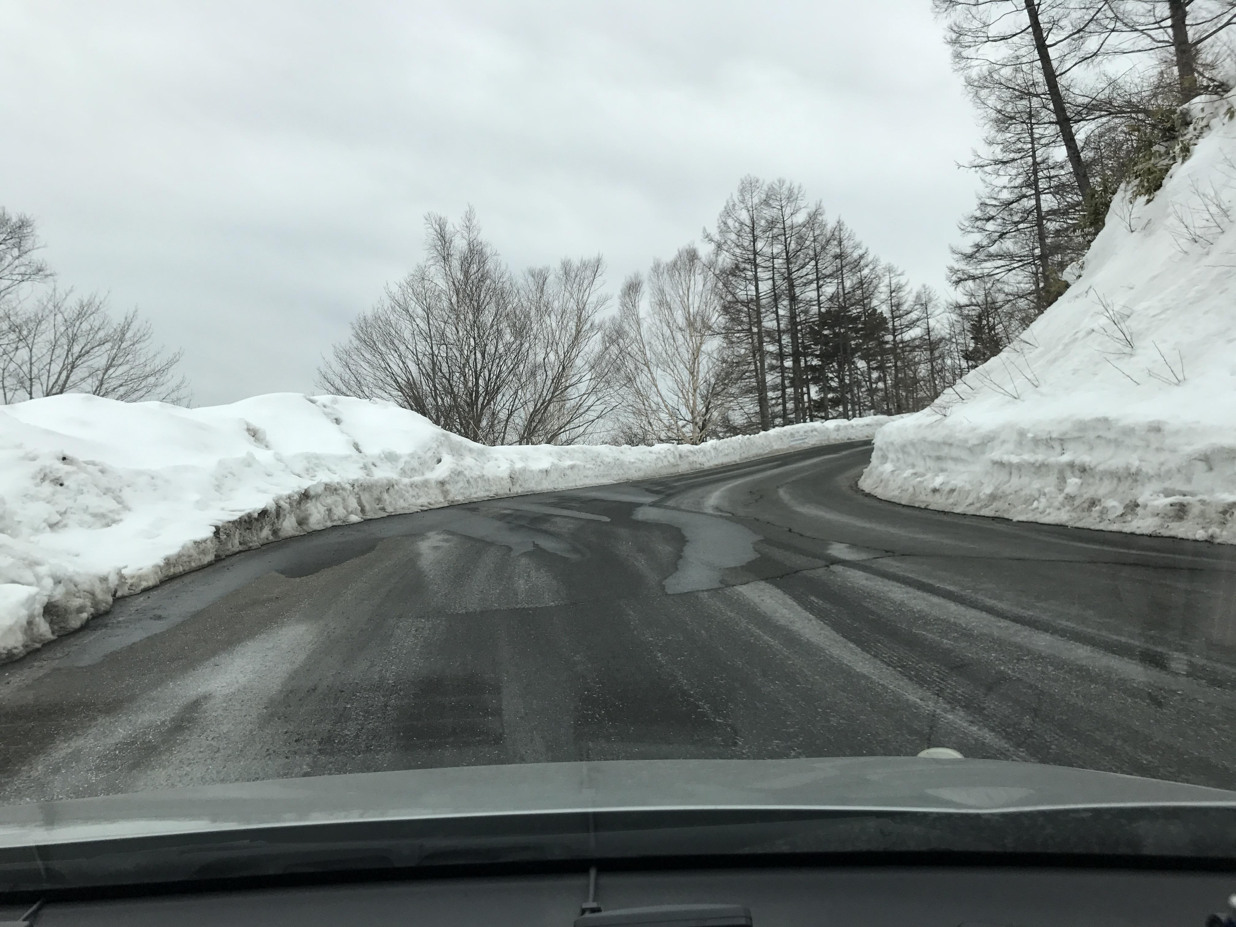 3月の御嶽山の道中