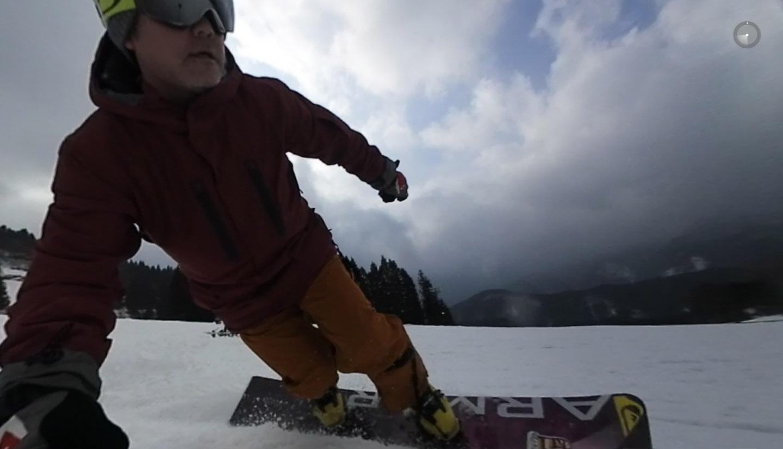 KeyMission360でスノーボード撮影