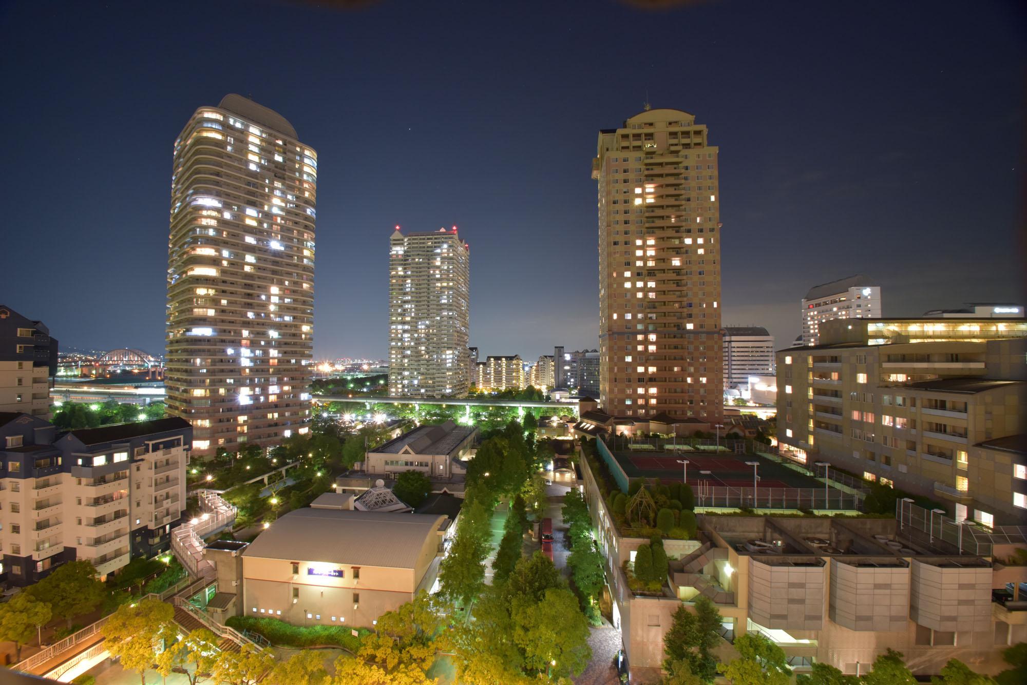六甲アイランドの自宅からの夜景